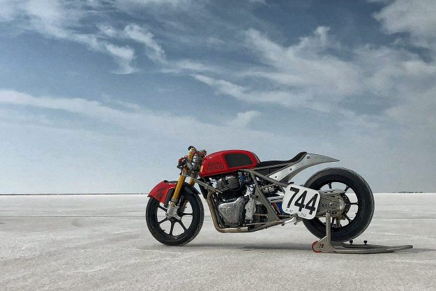 Royal Enfield 650 twin Bonneville Salt Flats racer