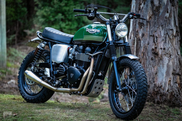 Mean and Green: A 2014 Triumph Scrambler custom tuned for performance