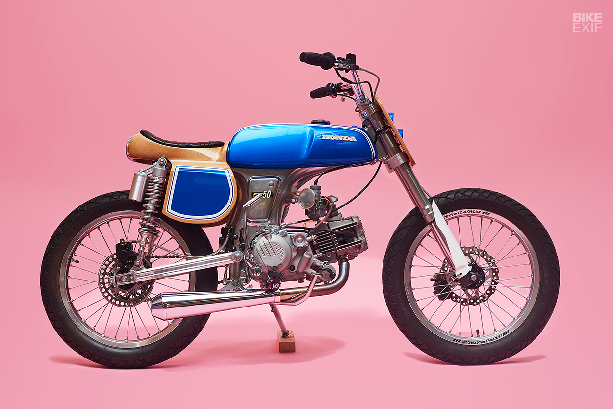 Custom Honda SS50 moped by George Woodman