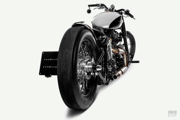 Custom Heritage Softail: One Way Machine's Drag-Inspired Quartermile