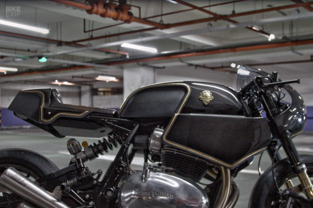 The new Royal Enfield Continental GT customized by Rough Crafts