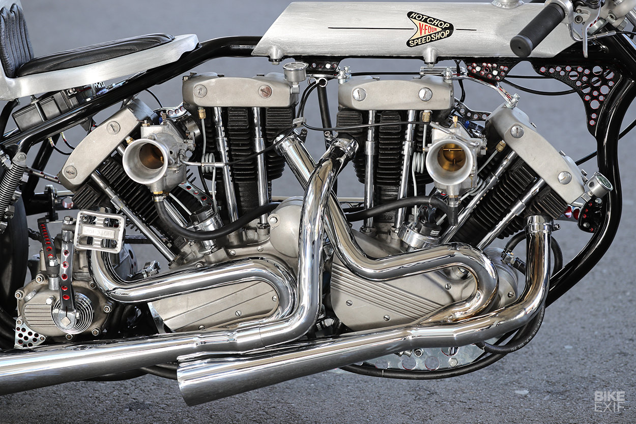 Double Trouble: Hot Chop's twin-engined Harley drag bike
