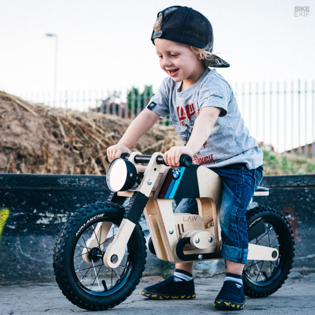 Lawless balance bike and toddler
