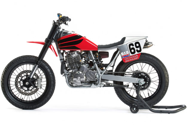 Nicky Hayden tribute: A Honda XR650L flat tracker by Analog Motorcycles