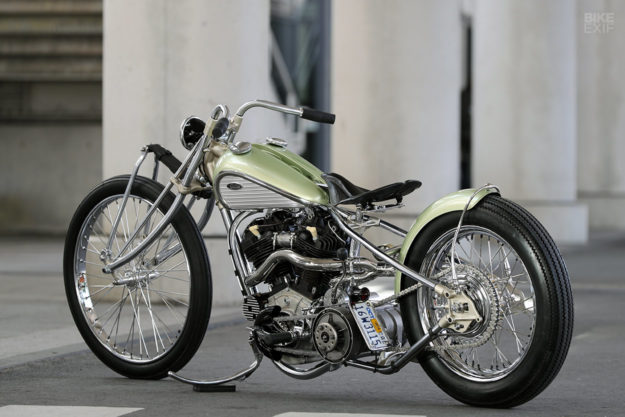 Custom knucklehead hardtail built for the Mooneyes Japan show by Asterisk