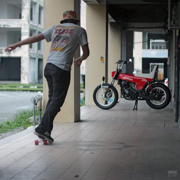 A mini bōsōzoku bike from FNG Works of Malaysia