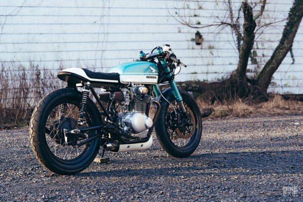 1972 Honda CB350 restomod built by Merlin Cycleworks