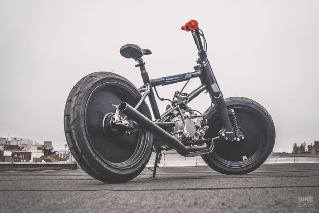A BMX with a motorcycle engine by Fifty-Six Motorcycles of Paris