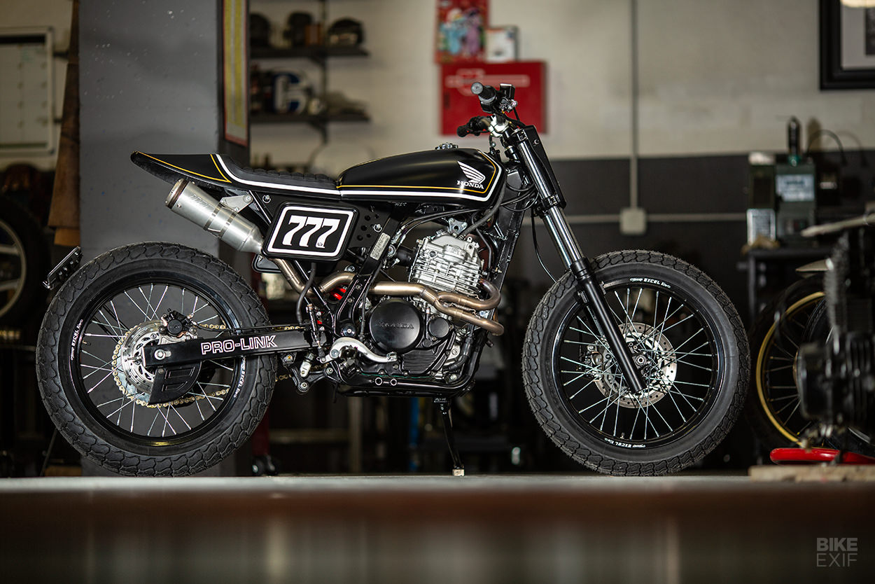 Custom Honda Dominator NX650 tracker by RC Dept