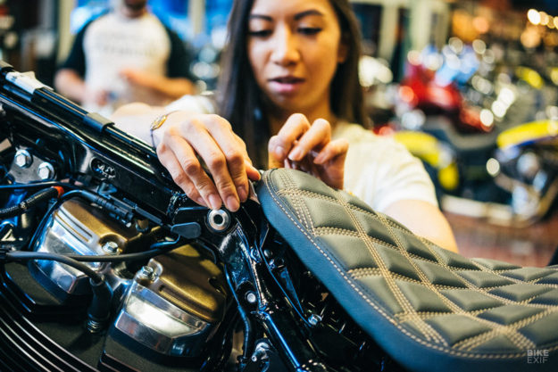 Building a tracker-style Street Bob custom at the Harley-Davidson Brewtown Throwdown