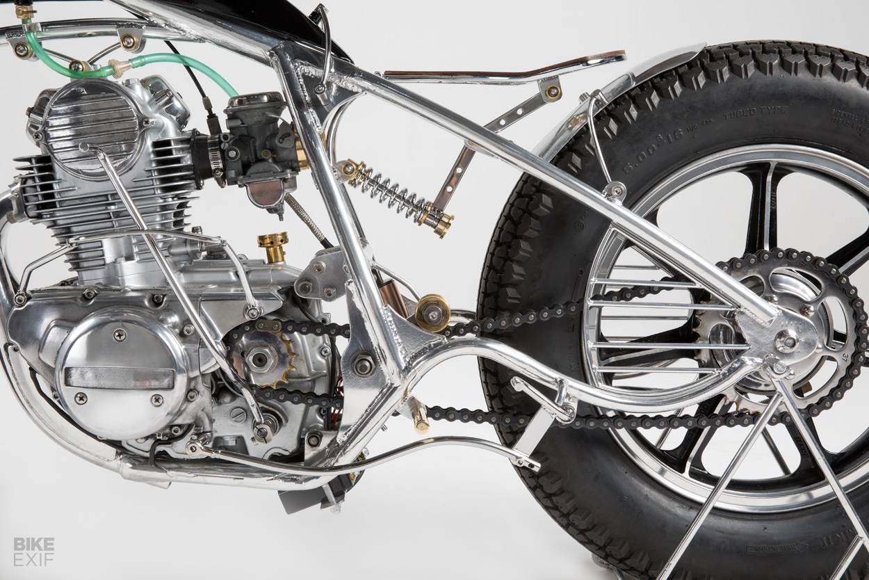 Ground-up build: A Kawasaki bobber rises from the weeds