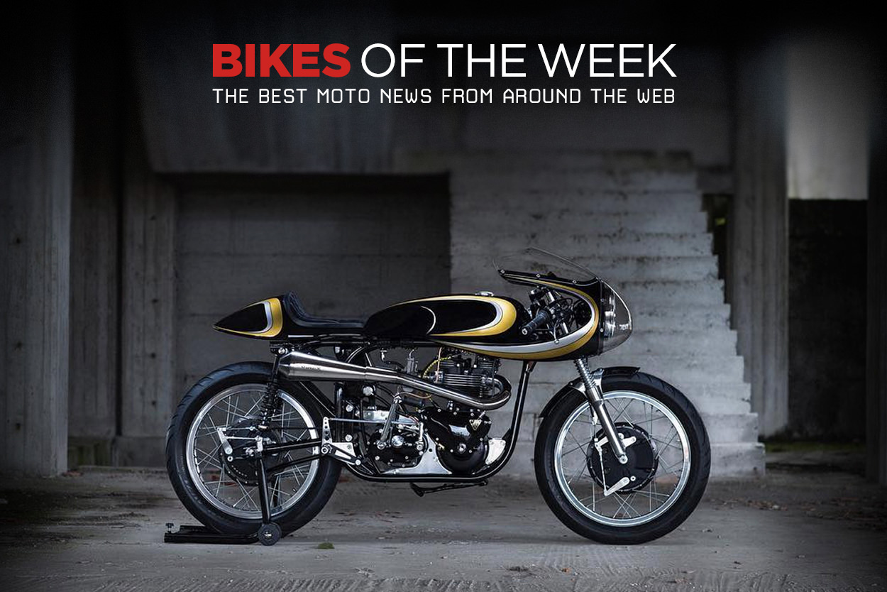 The best cafe racers, customs and electric motorcycles from around the web.