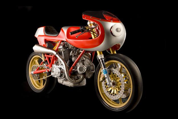 Ducati MHR 1000 cafe racer tribute to Rino Caracchi