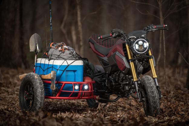 Honda Grom sidecar rig by Industrial Moto