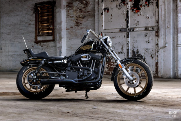 An 80s style Harley-Davidson Sportster Iron 1200 from Prism Supply Co.