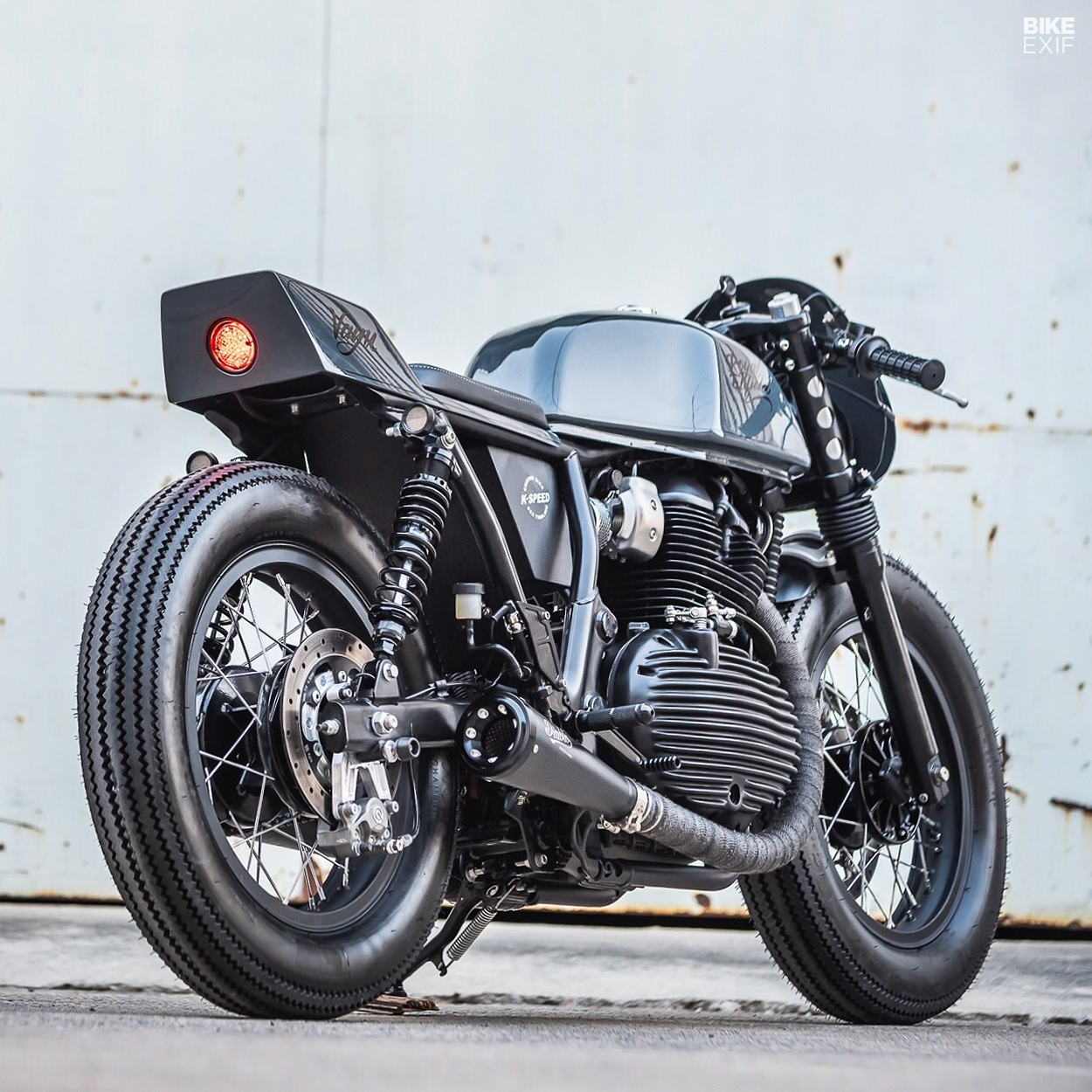 K Speed Tears Into The Royal Enfield Continental Gt Bike Exif