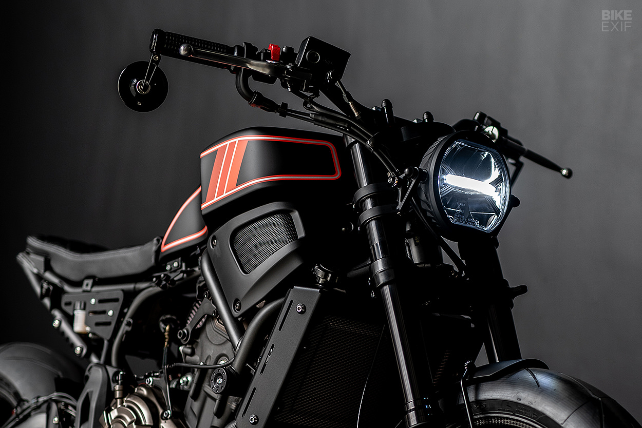 The Enforcer: a Yamaha XSR700 custom from Ironwood Motorcycles