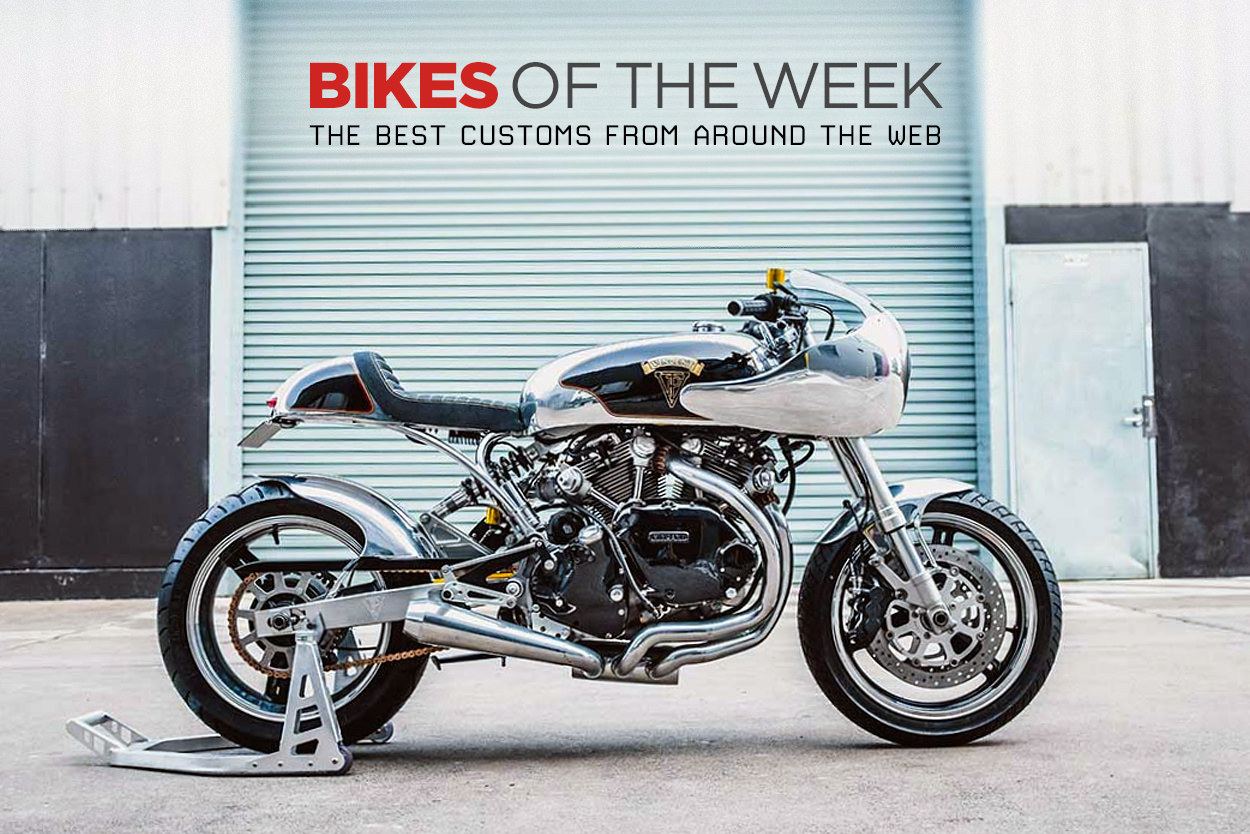 The best cafe racers, sidecars and classics from around the web.