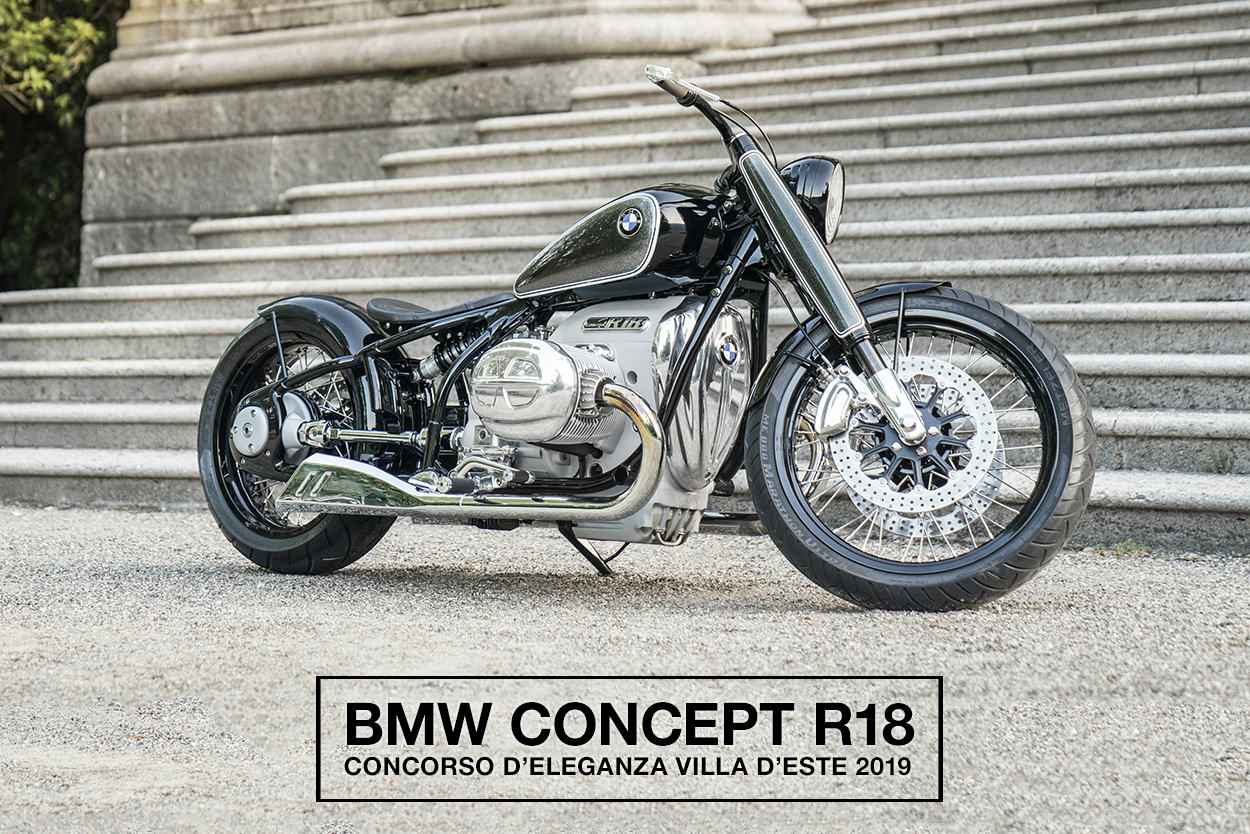 The BMW Concept R18 motorcycle, star of the 2019 Concorso d'Eleganza at Villa d'Este