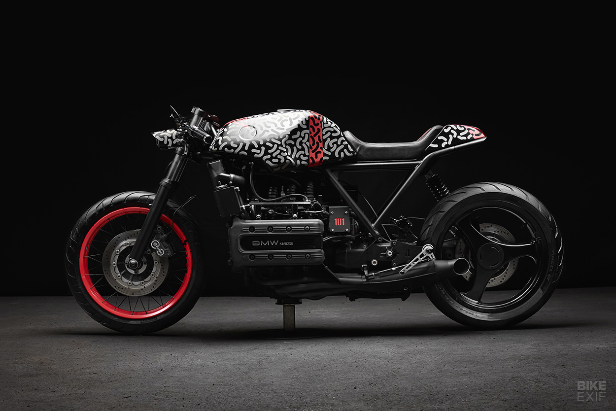 BMW K1100 cafe racer with camouflage paint by Impuls