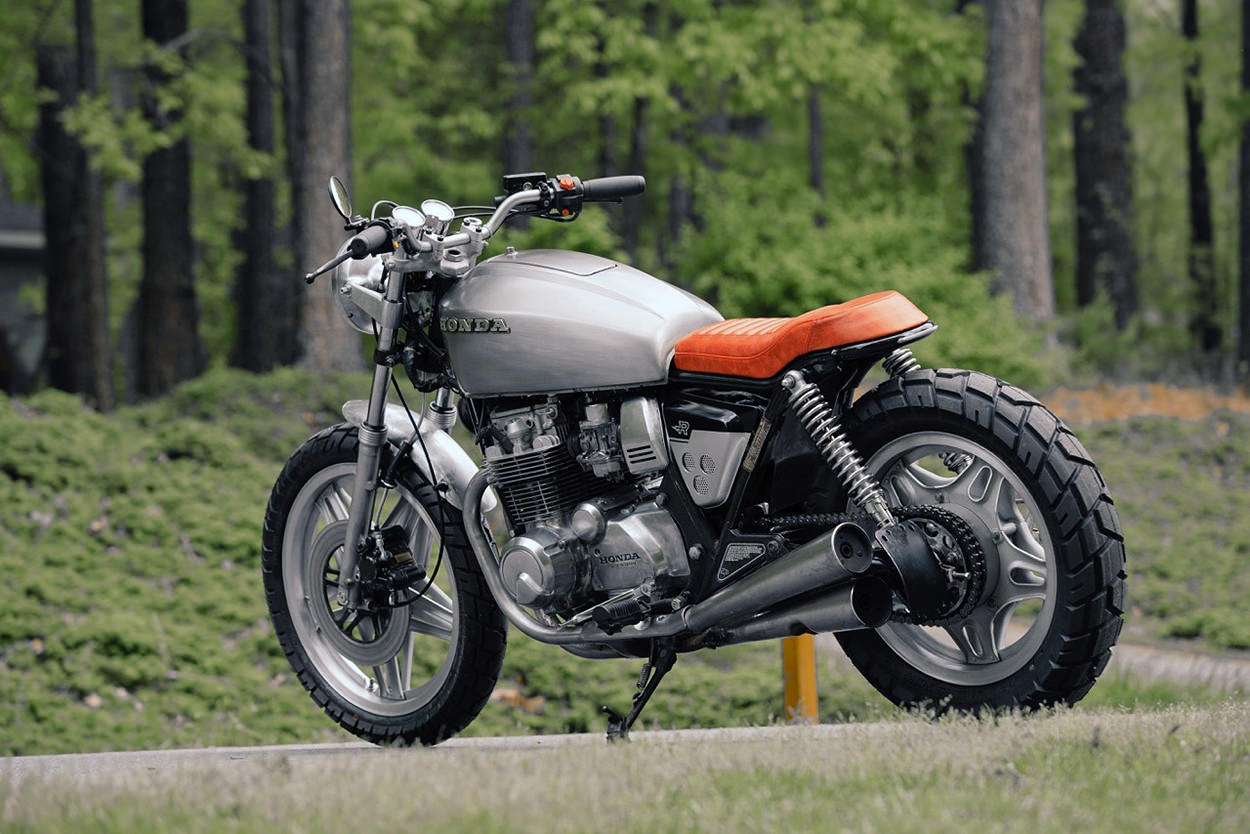 Budget Honda CB650 cafe racer by Bob Ranew of Redeemed Cycles