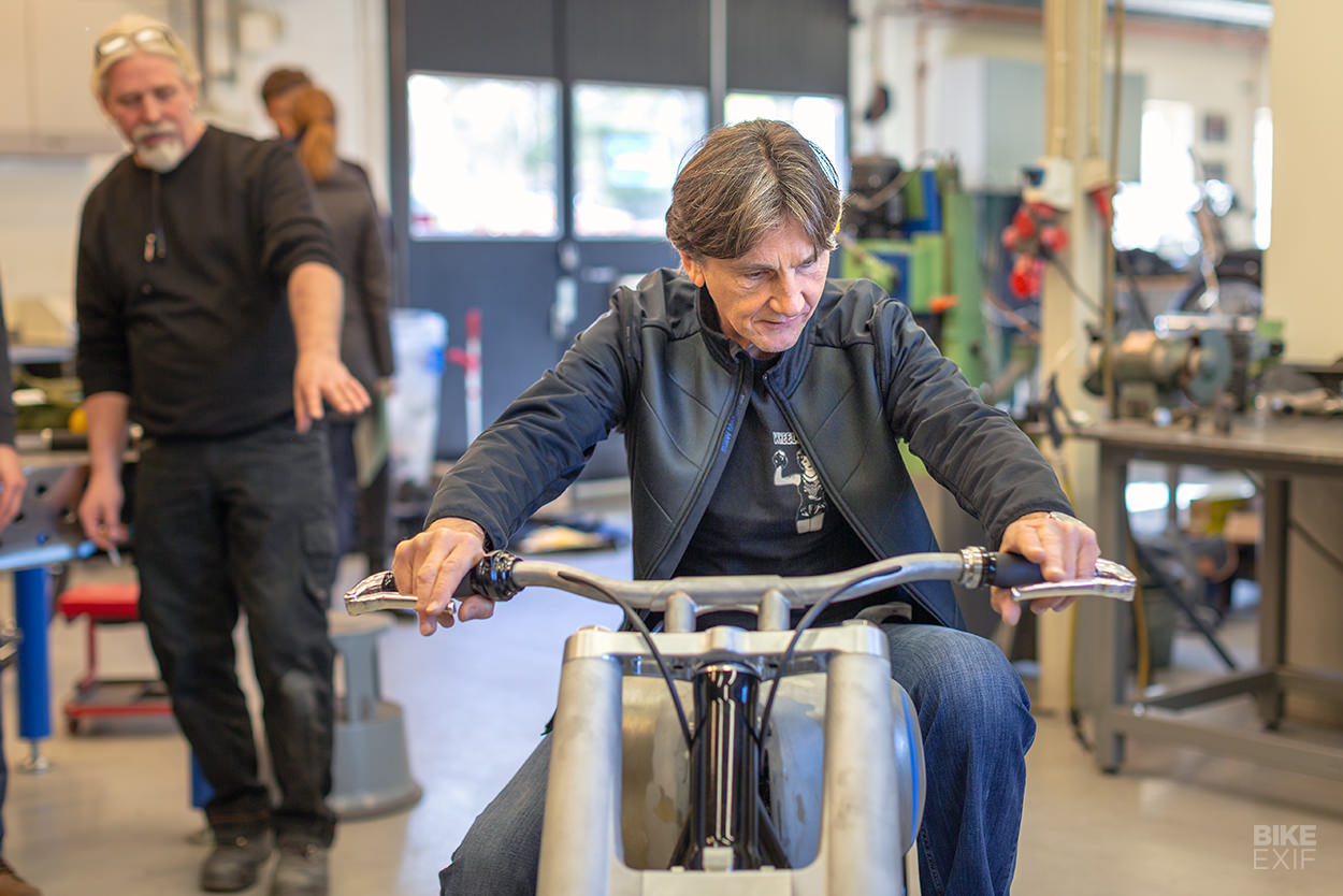 BMW Motorrad head of design Edgar Heinrich and the Concept R18