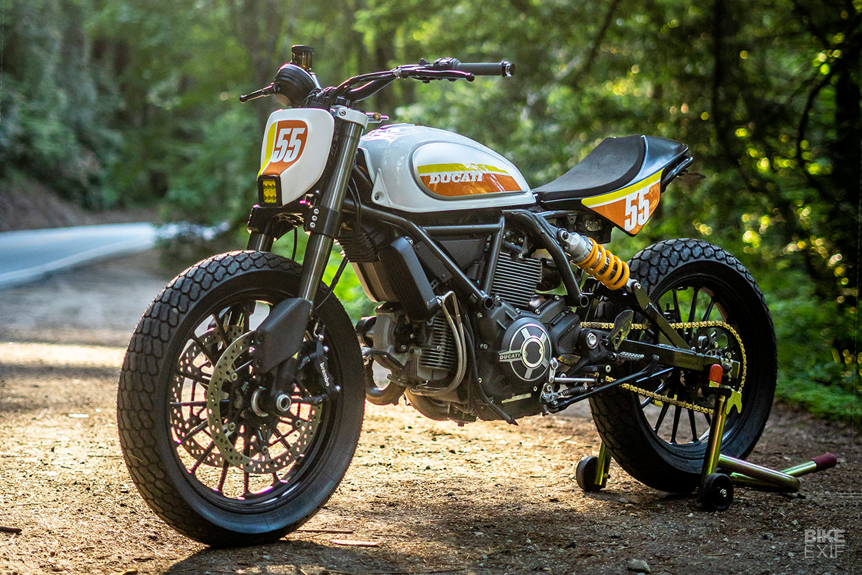 Sleeper: A 2016 Ducati Scrambler heavily modified by Zero Motorcycles engineer Tom Zipprian
