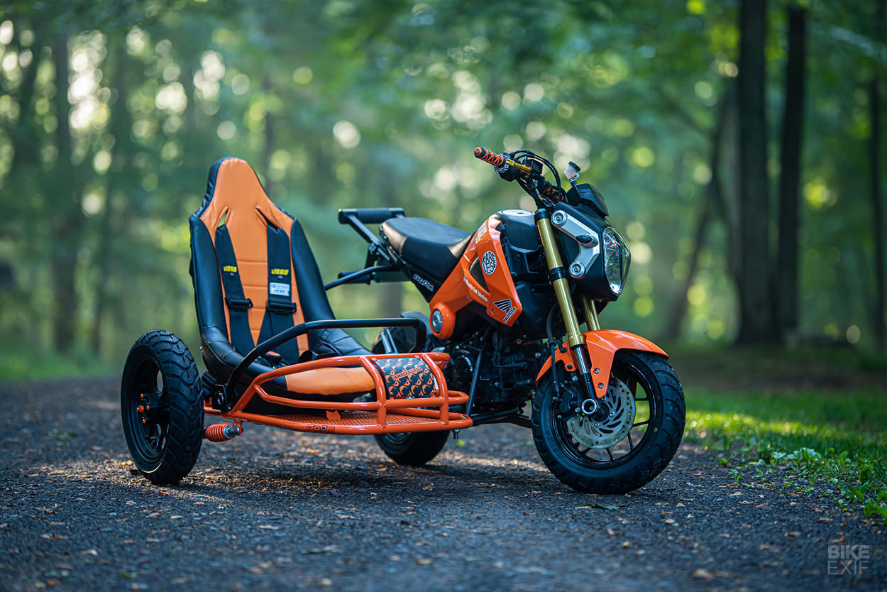 Custom Honda Grom with sidecar by Industrial Moto