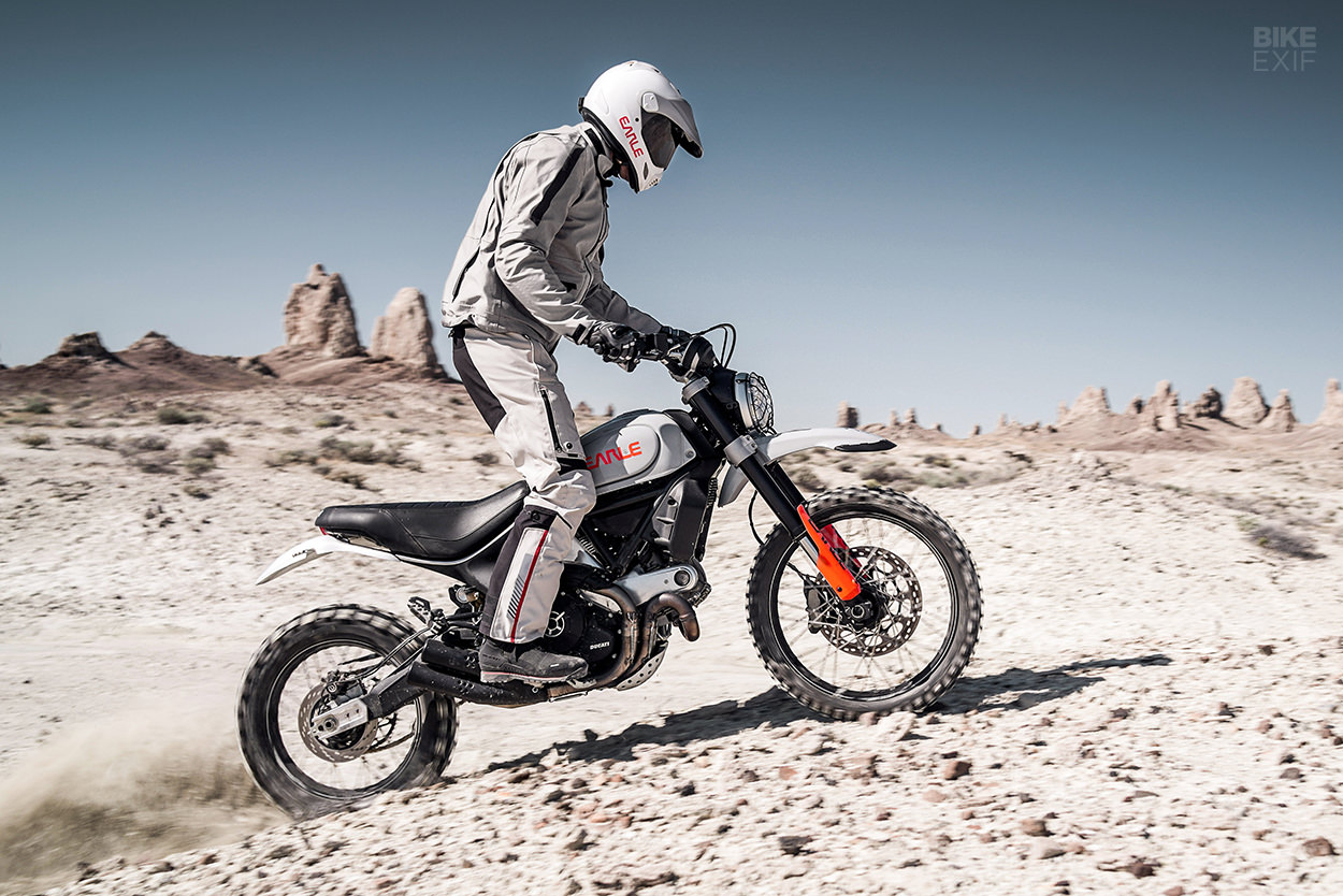 Ducati Scrambler Desert Sled conversion by Earle Motors