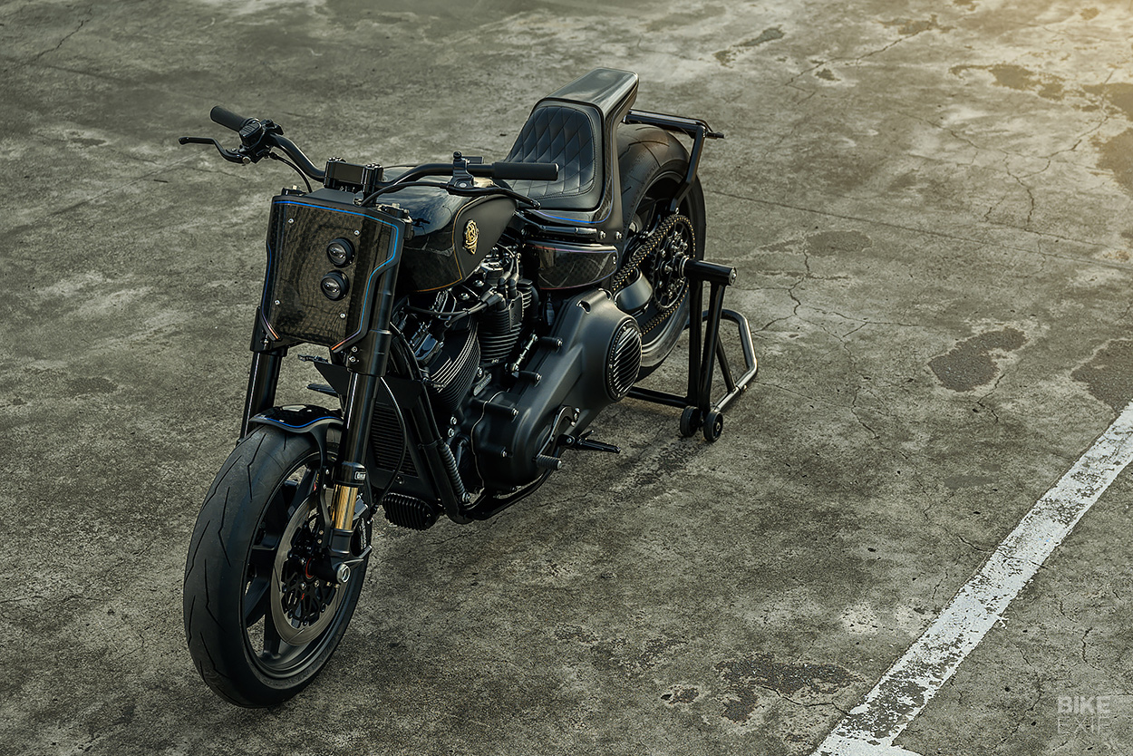 Tarmac Raven: A Harley-Davidson Street Bob custom from Rough Crafts