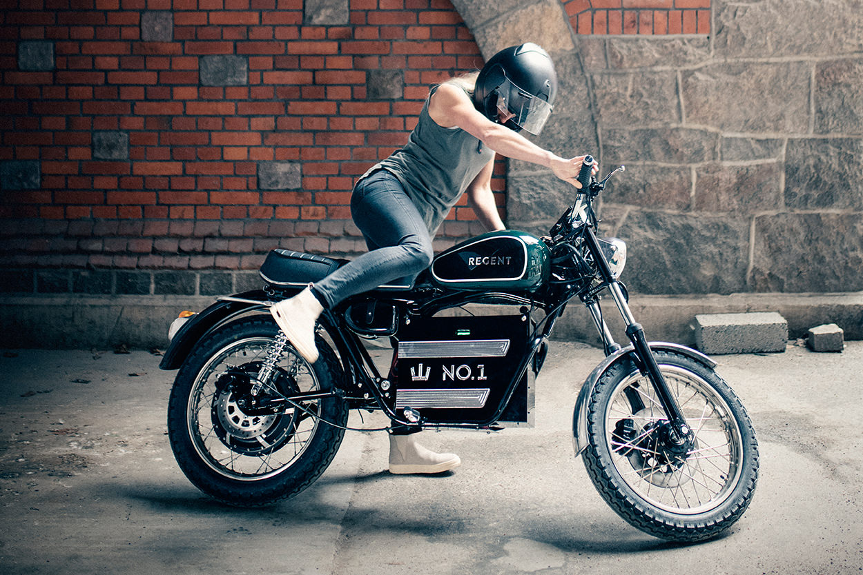 Regent No.1 electric motorcycle from Sweden