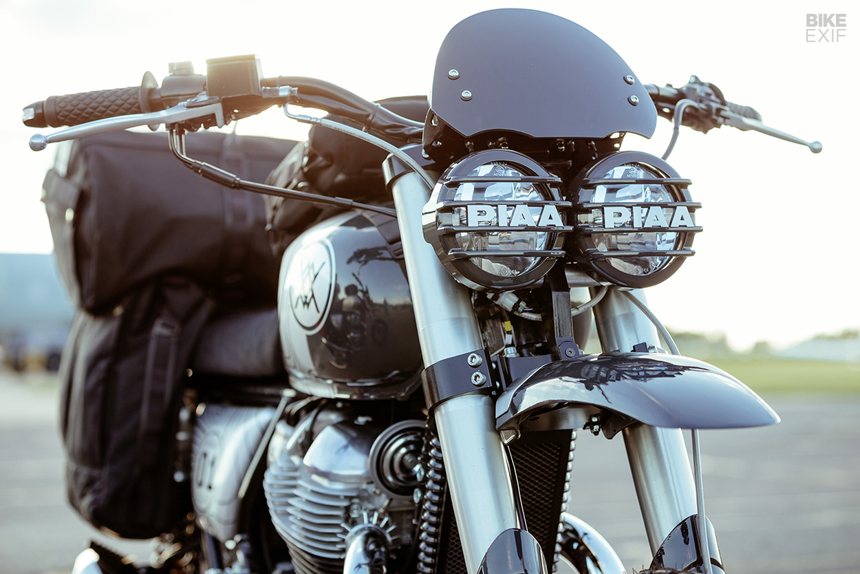 Custom Royal Enfield Interceptor 650 support vehicles for the Great Malle Rally