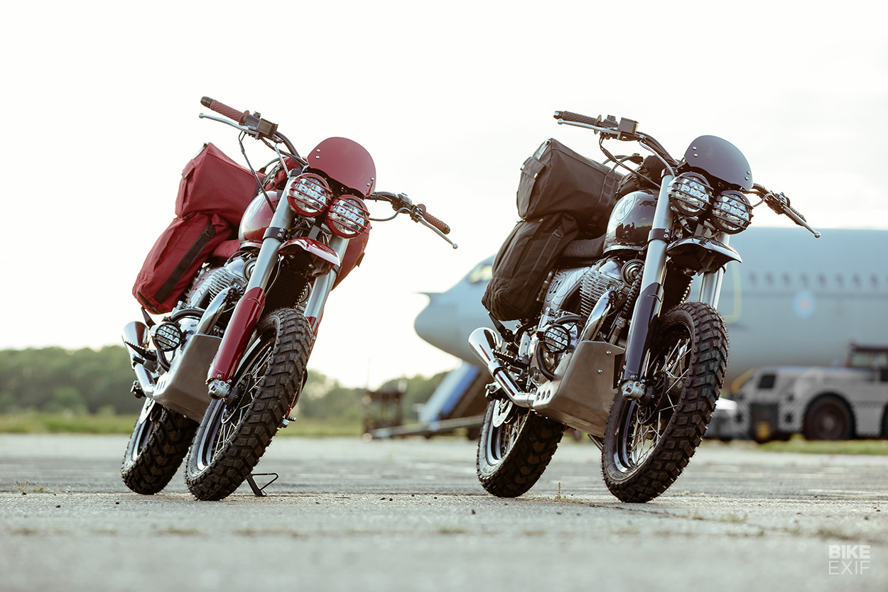 Malle Hardens Up A Pair Of Enfield Interceptor 650s Bike Exif