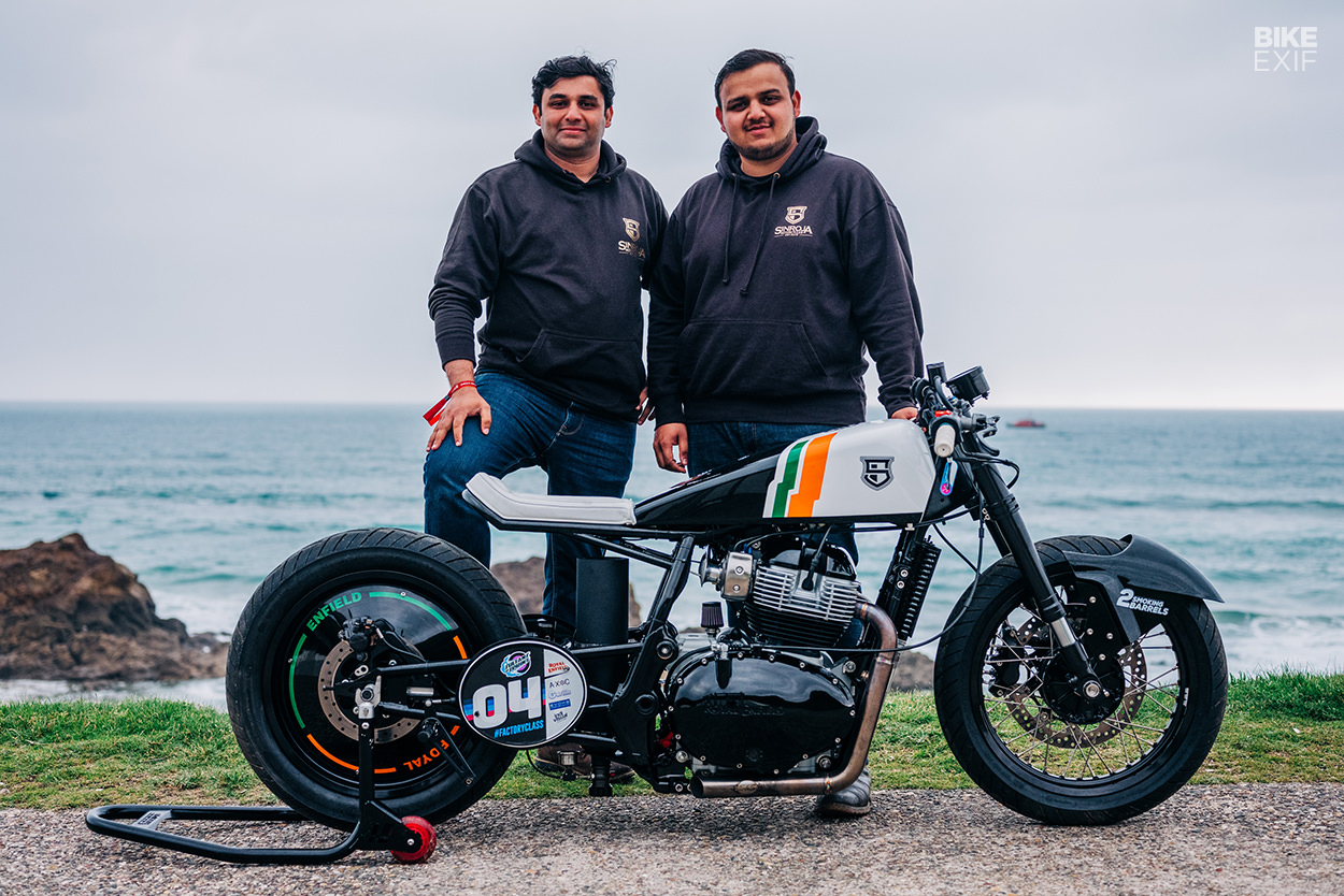 Royal Enfield Continental GT drag bike by Sinroja