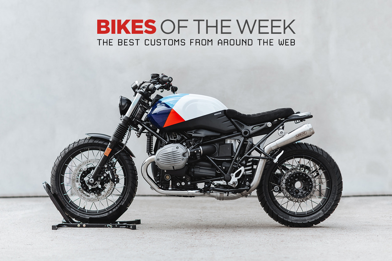 The best cafe racers, track bikes and rally motorcycles from around the web.