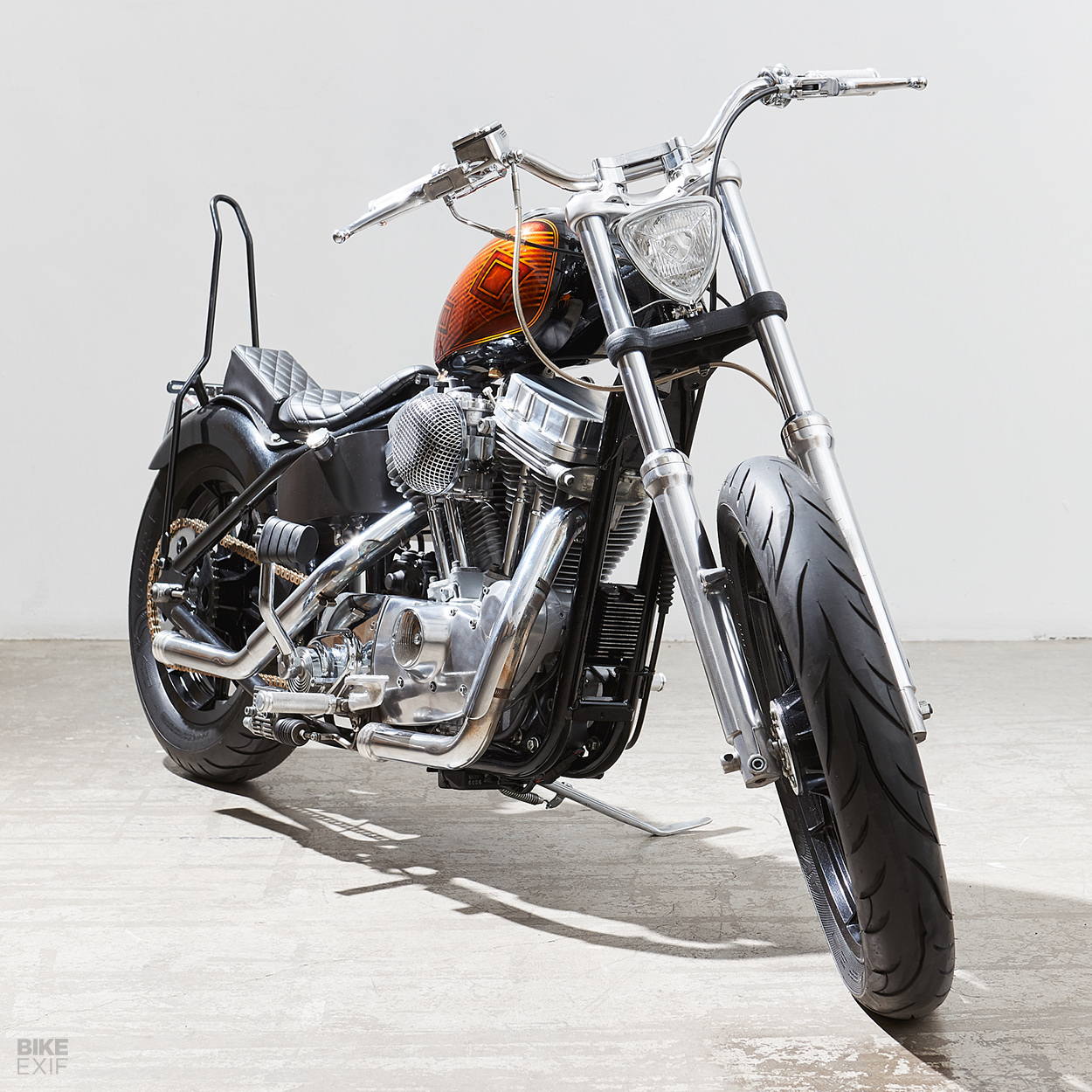 Lo Fi Perfection A Harley 883 Bobber From Canada Bike Exif