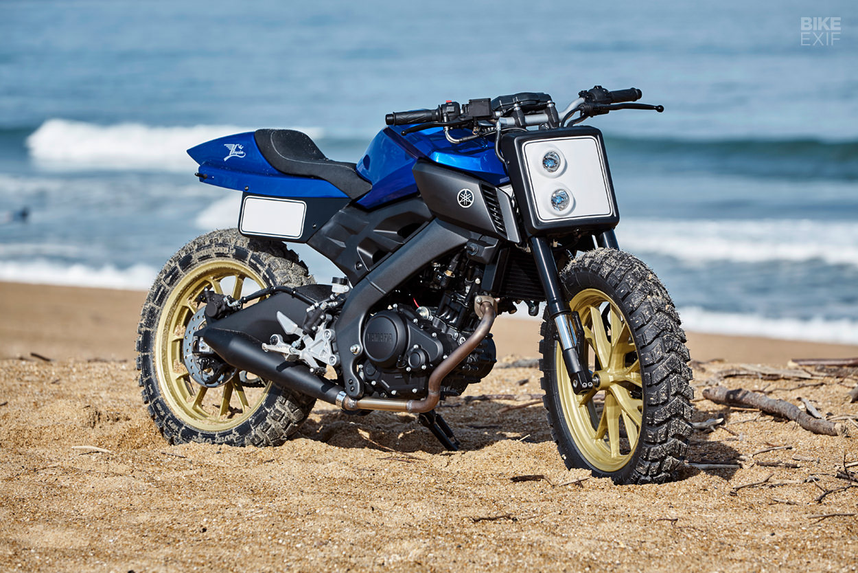 Perfectly formed: A funky Yamaha MT-125 tracker from Kingston Custom