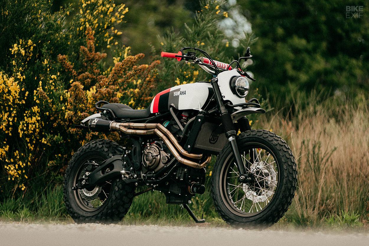 Yamaha XSR custom scrambler by Sur Les Chapeaux De Roues