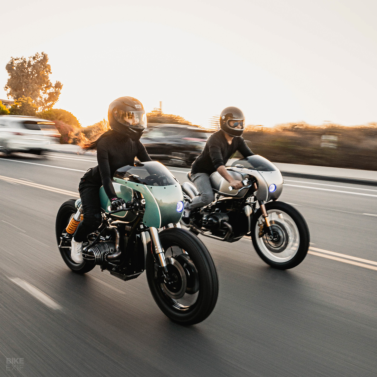 A pair of BMW R100 café racers from Upcycle Motor Garage