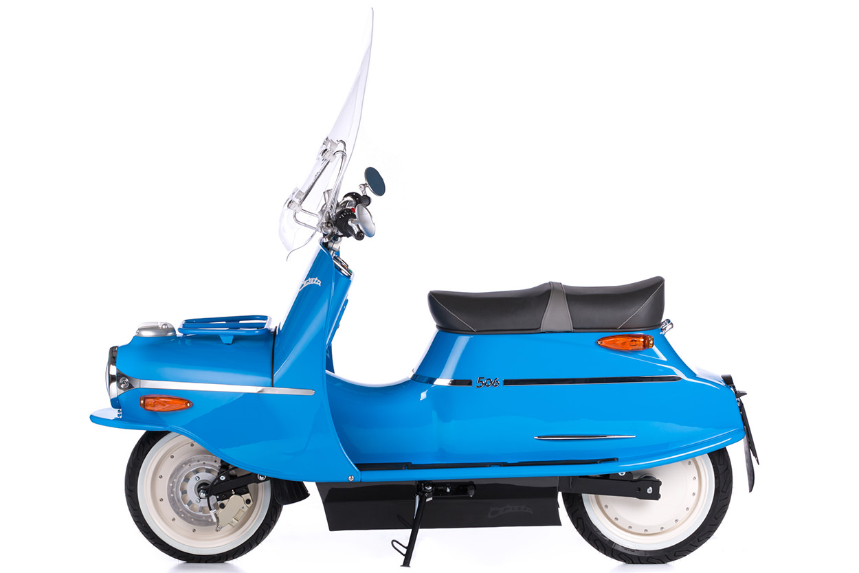 The Čezeta 506 electric scooter
