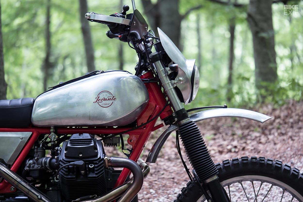 Levante: An old-school Moto Guzzi NTX from Officine Rossopuro