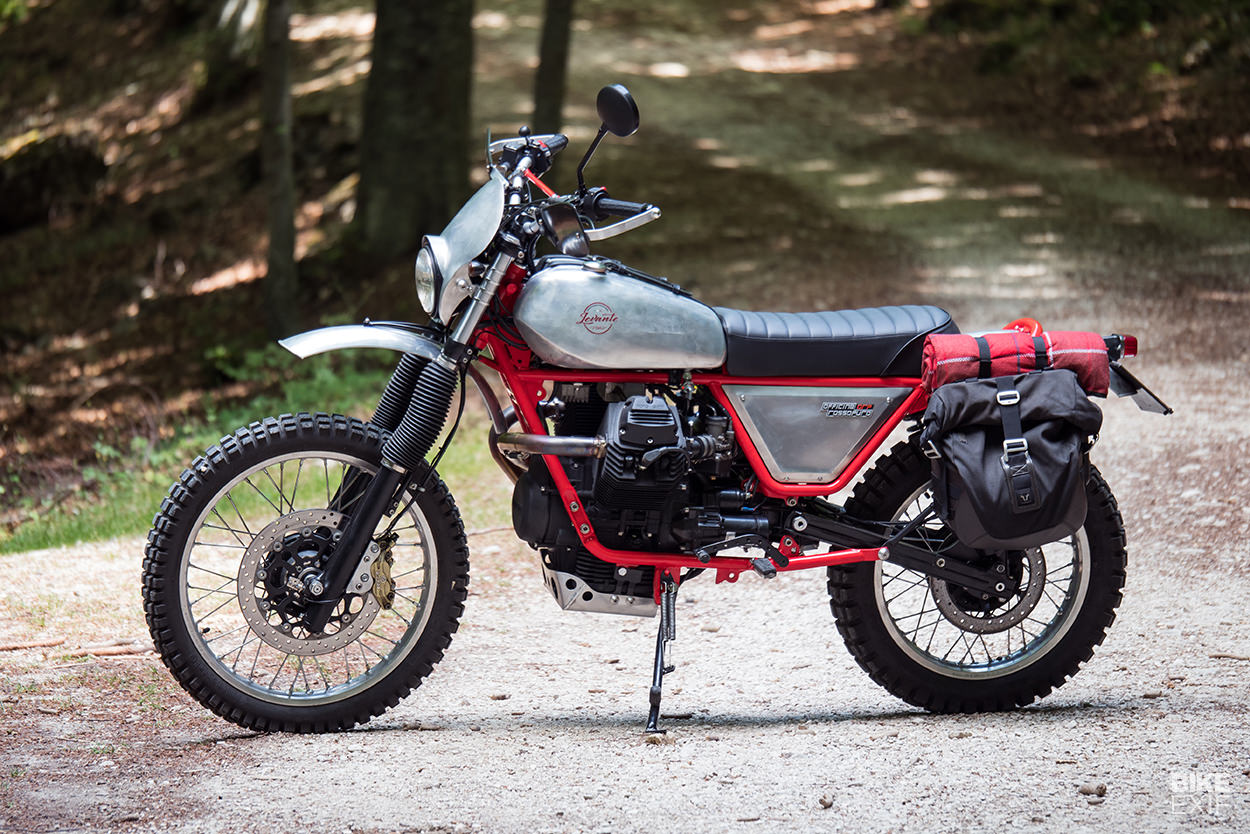 Levante: An old-school Moto Guzzi NTX from Officine Rossopuro