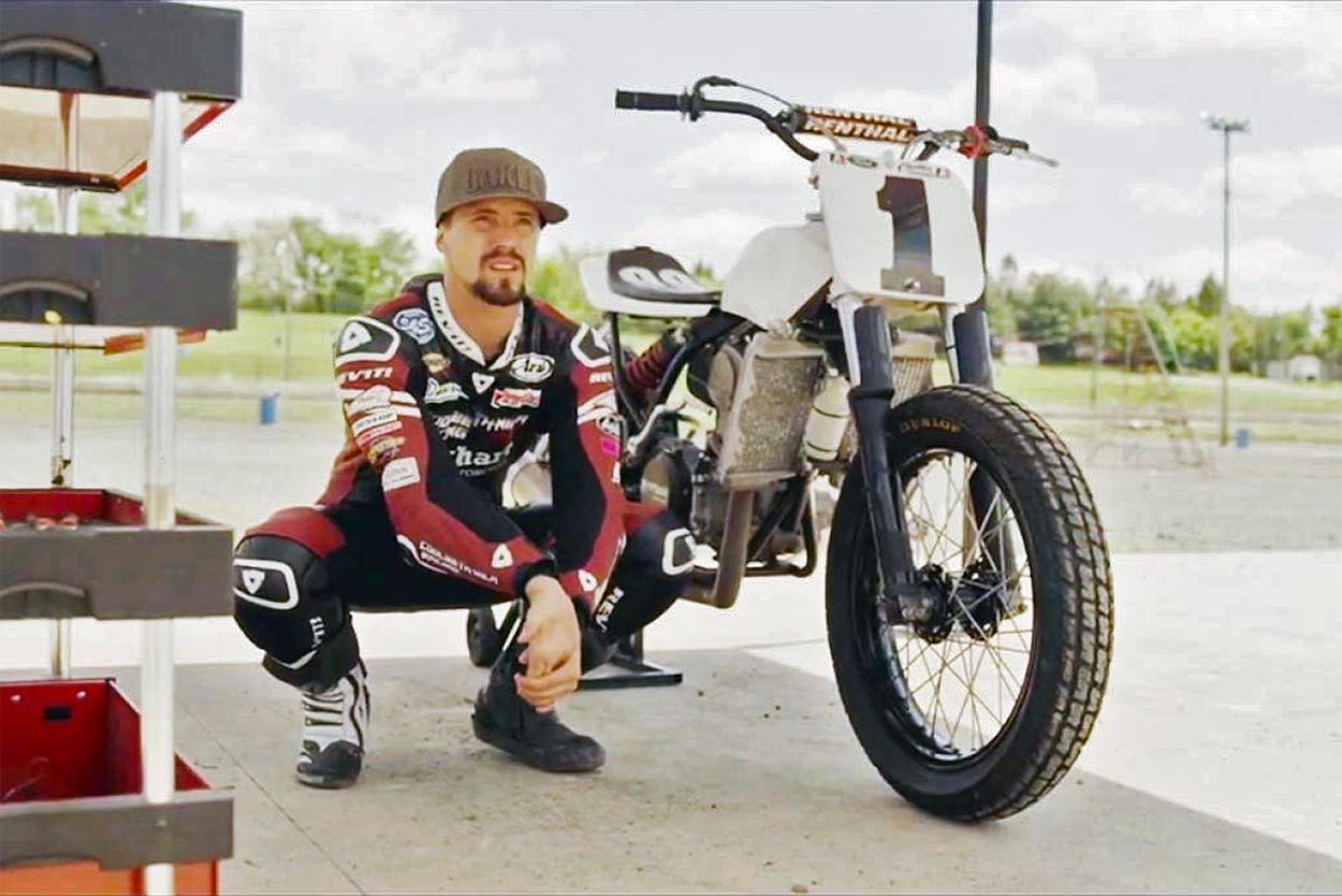 MotoAmerica and flat track star racer PJ Jacobsen