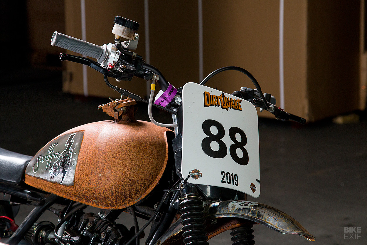 Sinnis Scrambler flat tracker built for DirtQuake