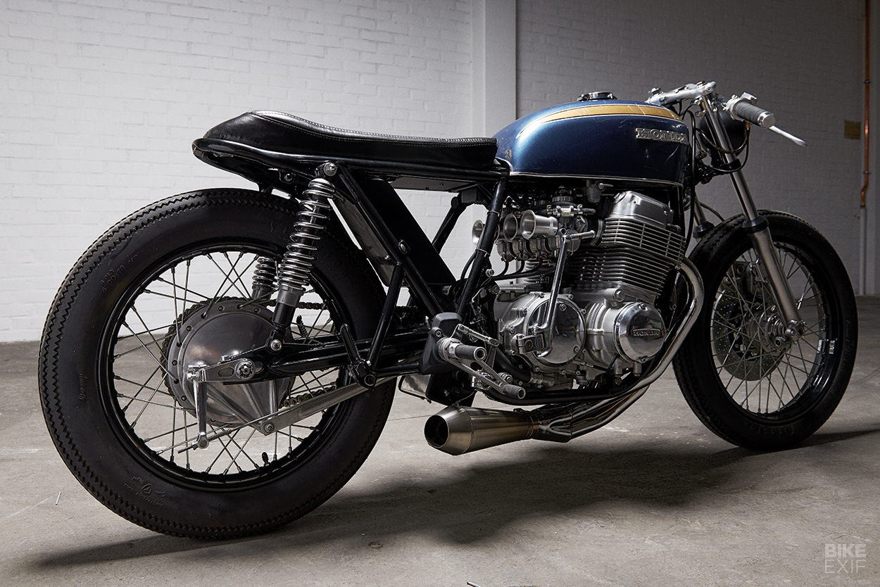 Two vintage cafe racers from PAAL Motorcycles of Sweden