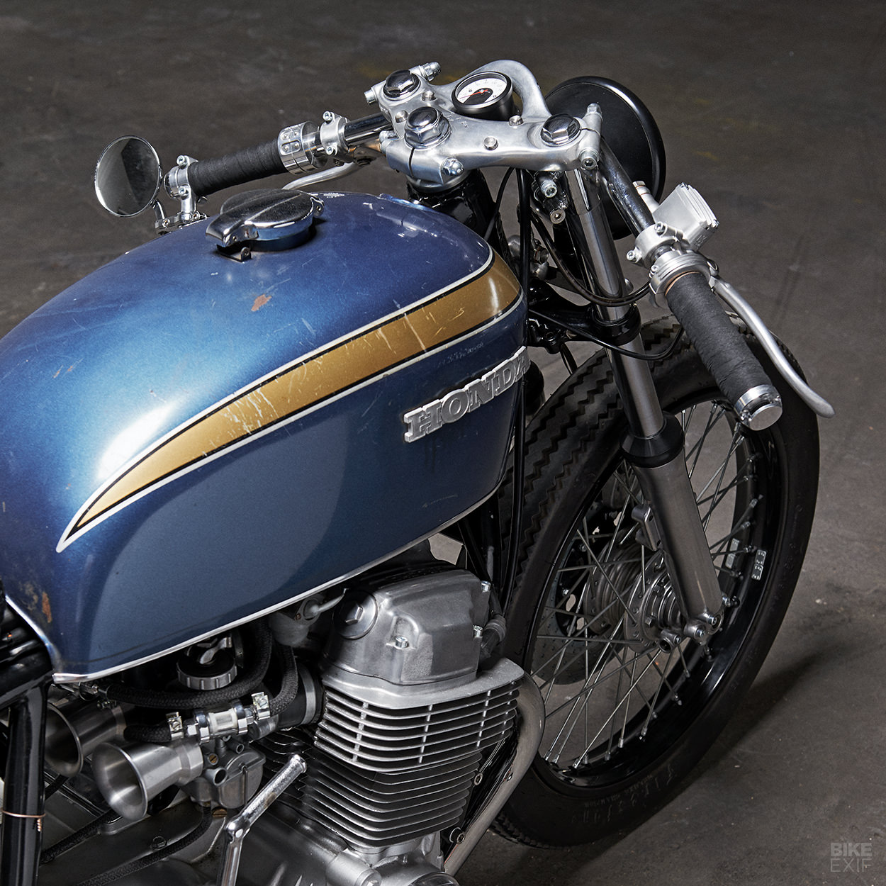 A vintage cafe racer from PAAL Motorcycles of Sweden