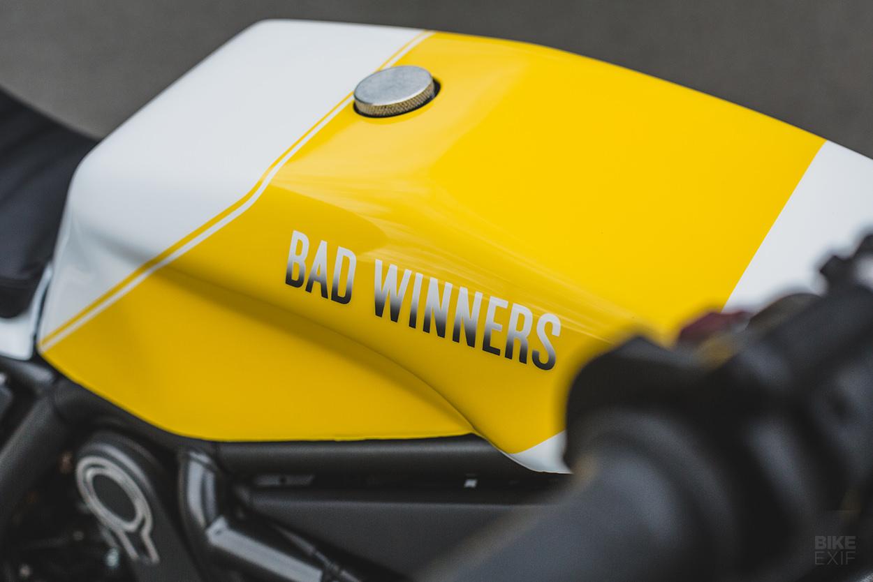 A Ducati Scrambler motorcycle kit from Bad Winners
