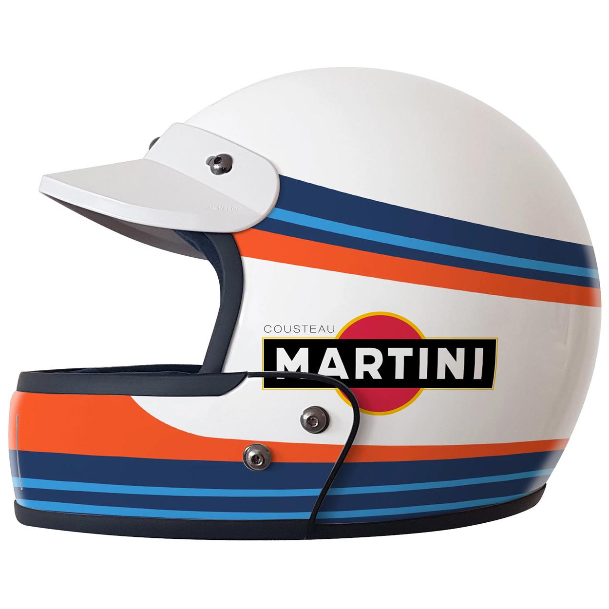 Custom motorcycle helmet designer Hello Cousteau