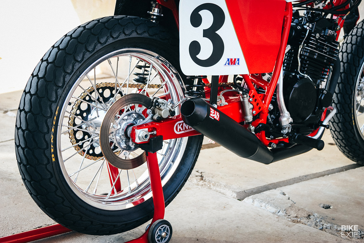 Honda RS600 replica flat track bike, built for the Stofskop race in South Africa