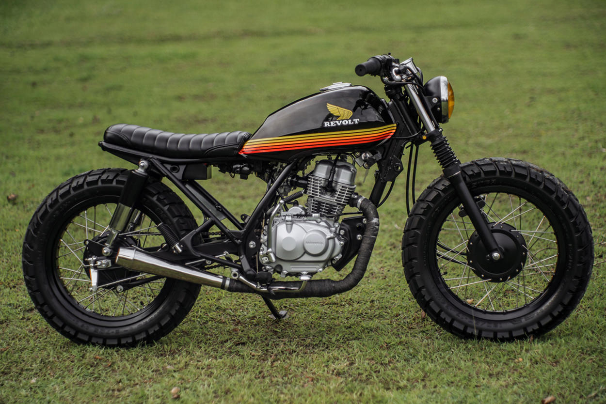 Honda TMX 150 tracker by Revolt Cycles
